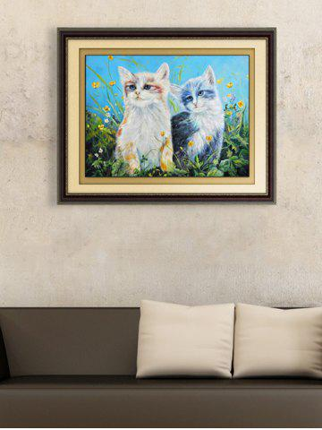 DIY Handmade Beads Painting Cat Pattern Cross Stitch - Colormix