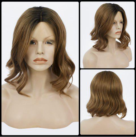 Unique Medium Centre Parting Bob Curly Lace Front Human Hair Wig