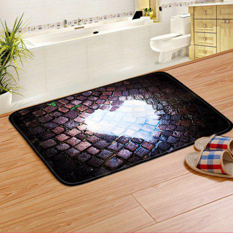 Trendy Heart Pattern Water Absorption Decorative Bathroom Rug - 40CM*60CM COLORMIX Mobile