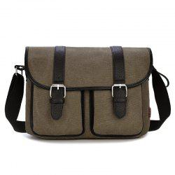 Double Buckle Straps Messenger Bag