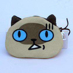 Cartoon Imprimer Zip Purse Imprimé Coin - Jaune