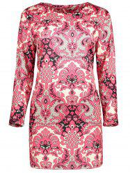 Plus Size  Paisley Printed Sheath Dress
