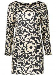Plus Size Paisley Sheath Dress With Pocket