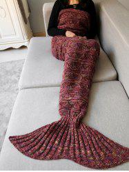 Hollow Out Crochet Knit Triangle Mermaid Blanket Throw -