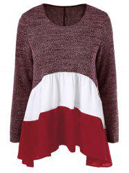 Color Block Tiered T-Shirt