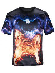 Short Sleeves 3D Animal Graphic T-Shirt
