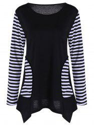Asymmetrical Stripe Tunic Top
