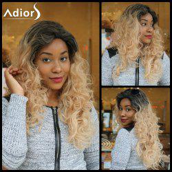 Adiors Long Side Parting Colormix Shaggy Curly Synthetic Wig