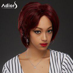 Adiors Side Bang Shaggy Straight Layered Bob Synthetic Wig