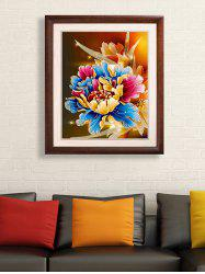DIY Beads Painting Peony Flower Cross Stitch Wall Decor