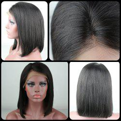 Medium Side Parting Natural Straight Bob Lace Front Human Hair Wig