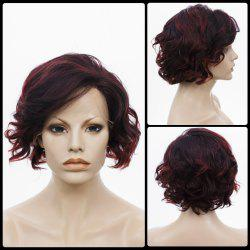 Short Side Bang Curly Highlight Bob Lace Front Human Hair Wig