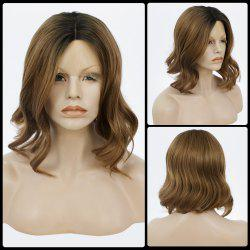 Medium Centre Parting Bob Curly Lace Front Human Hair Wig -