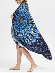 Rectangle Tribal Print Vortex Beach Throw