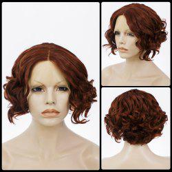 Short Centre Parting Bob Curly Lace Front Human Hair Wig