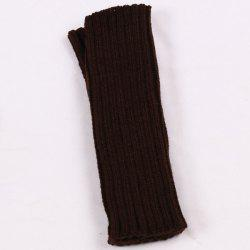 Knitted Ribbed Plain Wrist Warmers Hand Gloves -