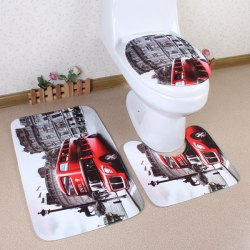 Europe Style 3Pcs Flannel Bath Rug and Mats Sets