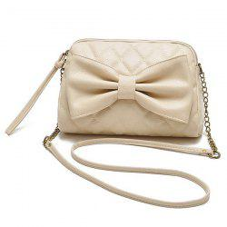 Bow Checked Crossbody Bag