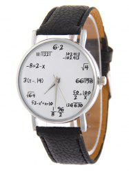 Artificial Leather Watchband Quartz Watch