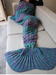 Warmth Knitting Fish Scales Mermaid Tail Style Blanket