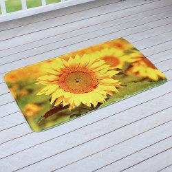 Sunflower Antislip Water Absorption Room Floor Carpet - CITRUS