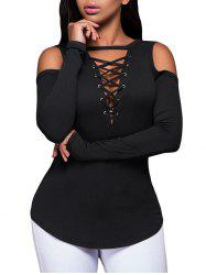 Lace-Up Pullover Knitwear
