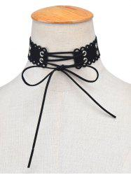 Bowknot Hollow Out Velvet Choker Necklace