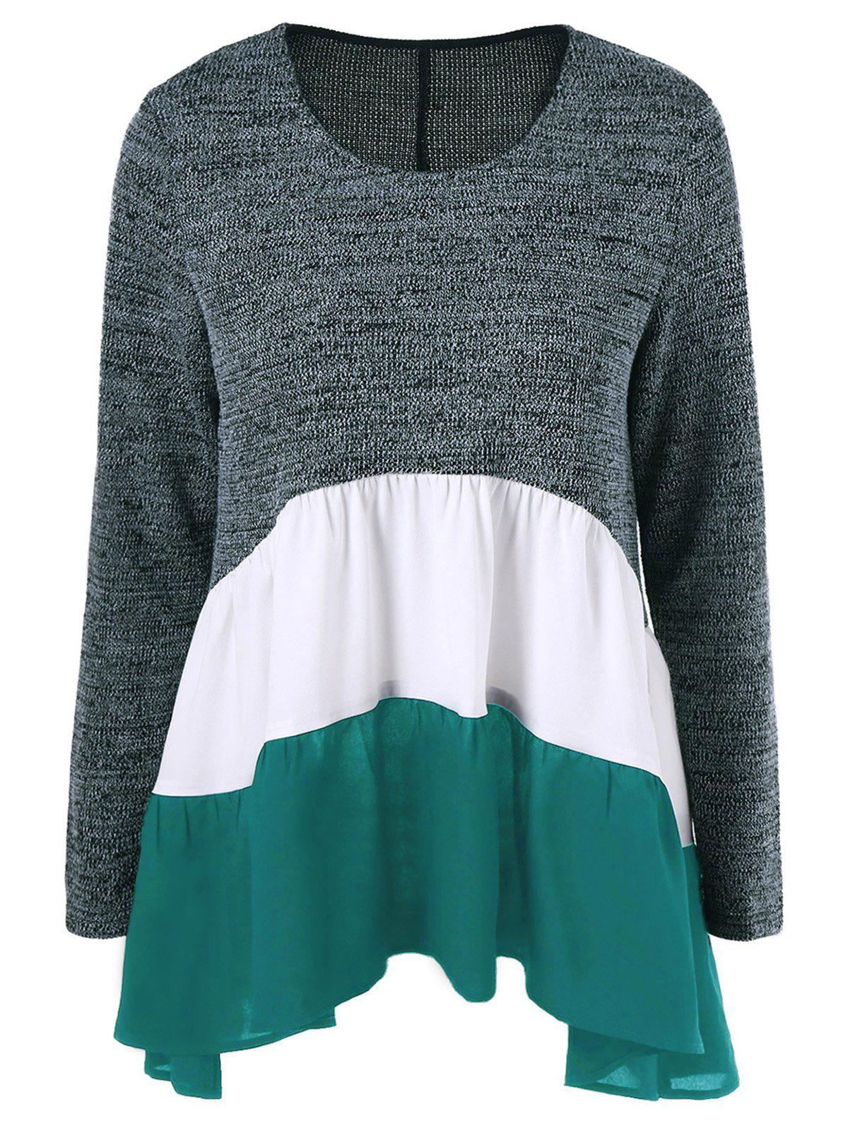 Latest Color Block Tiered T-Shirt
