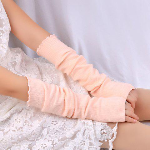 Cheap Knitted Ribbed Fingerless Plain Arm Warmers
