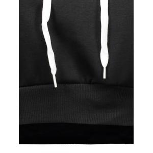 Letter Cropped Hoodie -