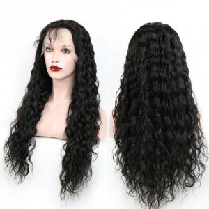 Heat Resistant Synthetic Long Fluffy Curly Lace Front Wig - Black - 16inch