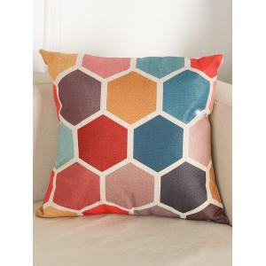 Geometry Pattern Linen Cushion Throw Pillow Case - Colormix - 43*52cm