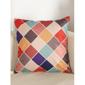 Colorful Plaid Sofa Bed Throw Linen Pillow Case
