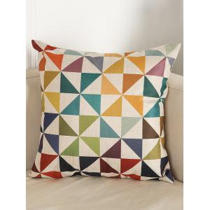 Geometry Pattern Sofa Bed Throw Linen Pillow Case - Colormix - 45*45cm