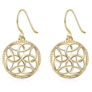 Round Hollow Out Dangle Earrings