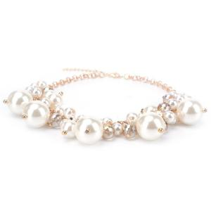 Fake Pearl Statement Necklace -