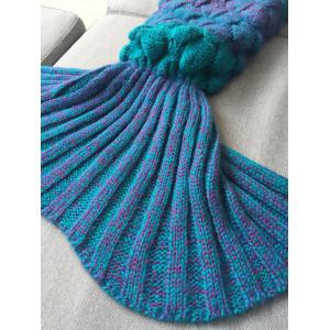 Warmth Knitted Fish Scales Mermaid Blanket For Kids -
