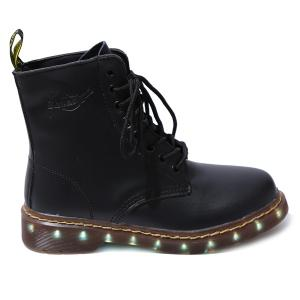 Light Up Flashing Ankle Boots - BLACK 39