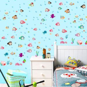 Cartoon Colorful Fish Animal Wall Decals For Nursery