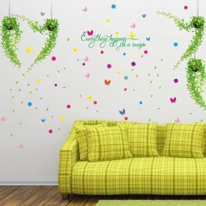 Flower Removable Giant Wall Stickers For Bedrooms - Colorful - 60*90cm