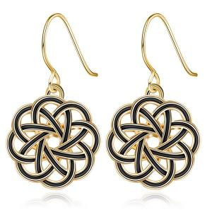 Floral Hollow Out Drop Earrings