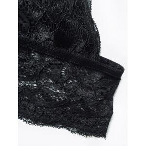 Unlined Lace Plunge Triangle Bra Outfit No Wire - BLACK M