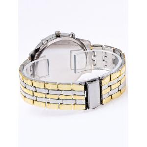 Stainless Steel Business Quartz Watch - GOLD AND WHITE