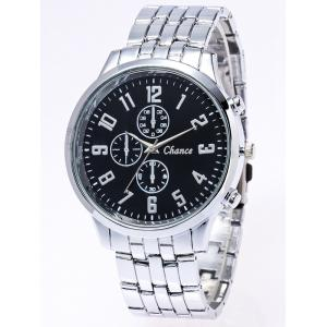 Stainless Steel Business Quartz Watch - Silver And Black
