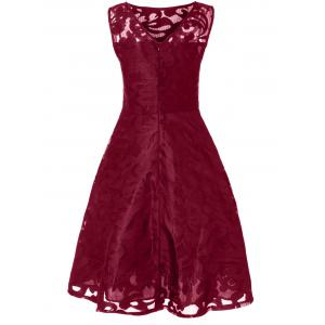 Lace Plus Size Holiday Short Cocktail Dress -