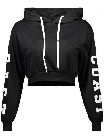 Sale Letter Cropped Hoodie
