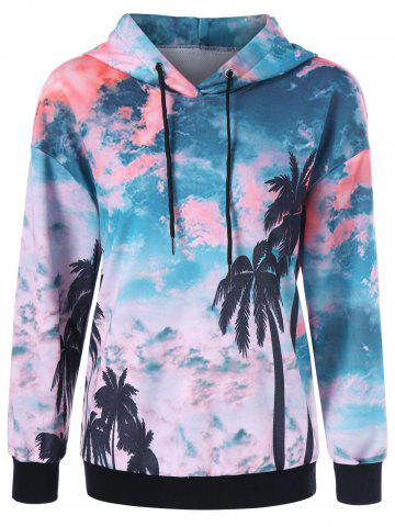 Affordable Pullover 3D Scenery Print Hoodie - XL COLORMIX Mobile