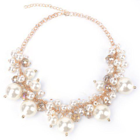 New Fake Pearl Statement Necklace