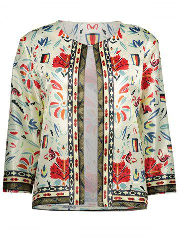 Outfit Collarless Floral Printed Blazer PALOMINO S
