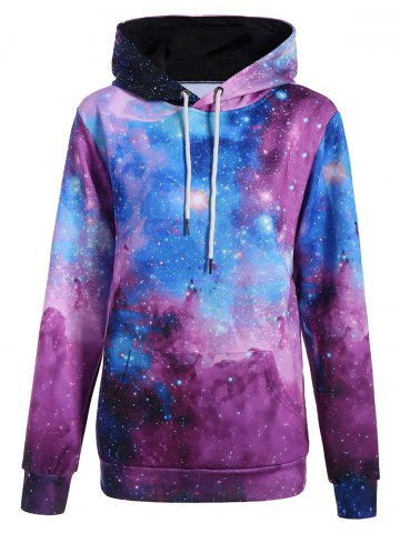 Latest 3D Galaxy Print Pullover Hoodie